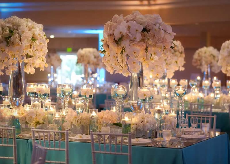 Tiffany blue and silver wedding centerpieces tiffany blue wedding pin tiffany blue and silver wedding table decor on junglespirit Images