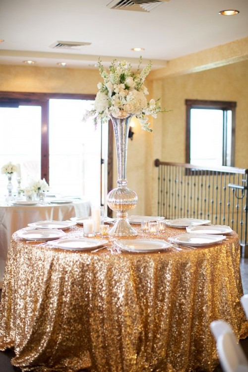 Decoración de Bodas con color Dorado 10