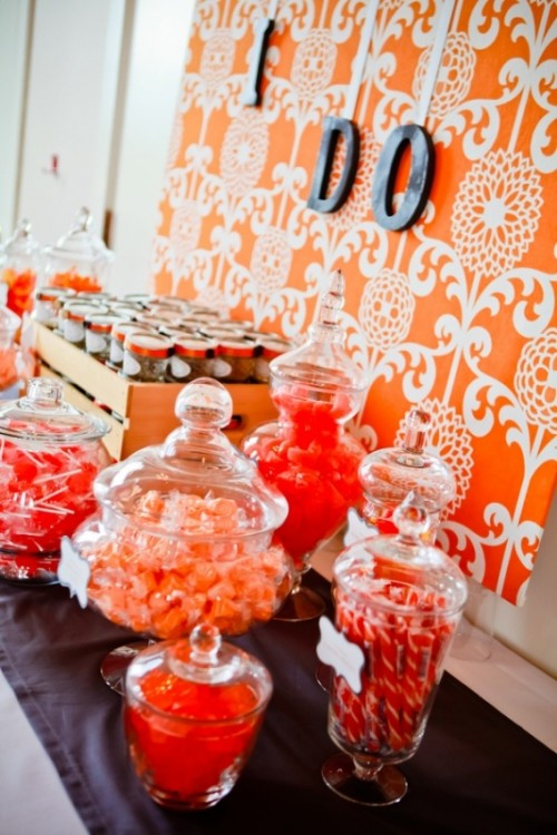 Ideas de Decoración de Bodas en color Naranja 3