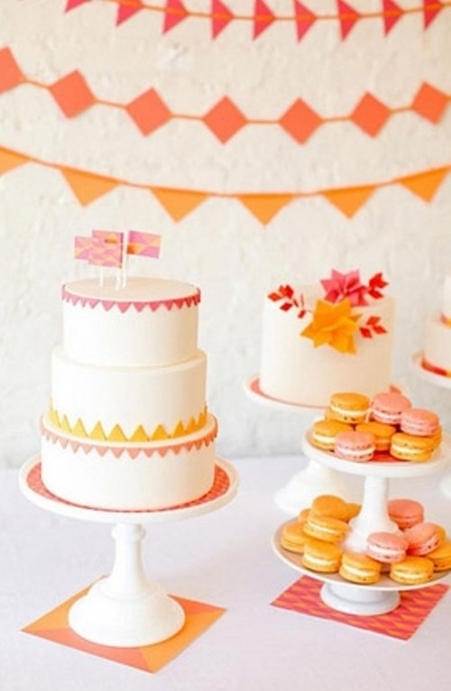 Ideas de Decoración de Bodas en color Naranja 4
